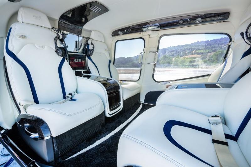 Bell 505 VIP's interior