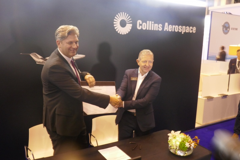 Collins Aerospace and Jet Aviation contract at EBACE 2019