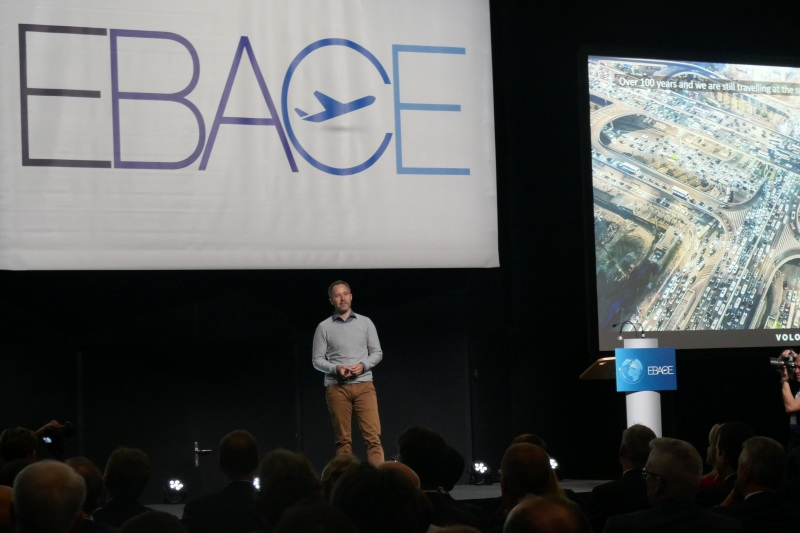 Volocopter CEO Florian Reuter at EBACE 2019
