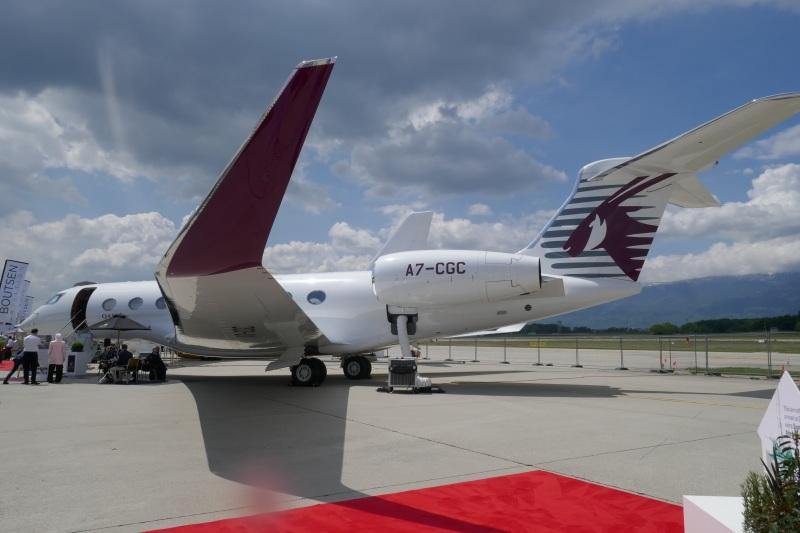 Qatar Executive G650 at EBACE 2019