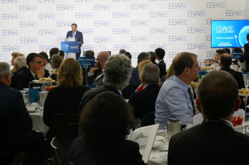 Media luncheon at EBACE 2019