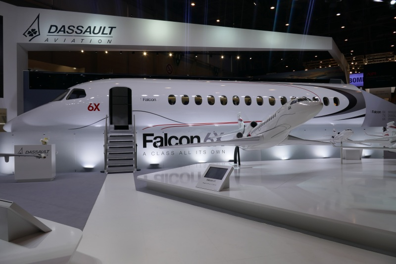 Falcon 6X cabin mock-up
