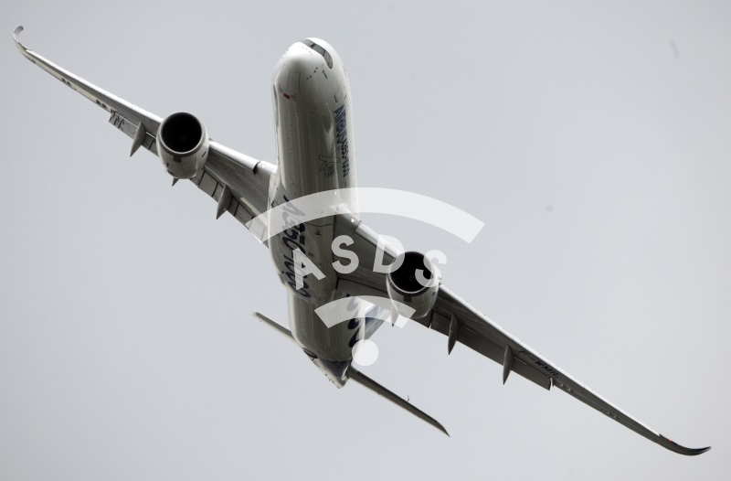 Airbus A350-1000 in flight at PAS 2019