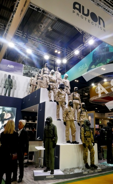 AVON Protection booth at DSEI 2019
