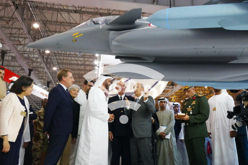 Sheikh Mohammed speaking about Rafale at the Dubai Airshow
