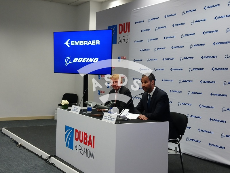 Boeing and Embraer Press Conference at the Dubai Airshow