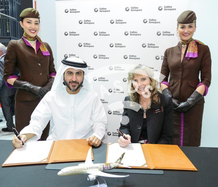 Collins Aerospace and Etihad signing ceremony