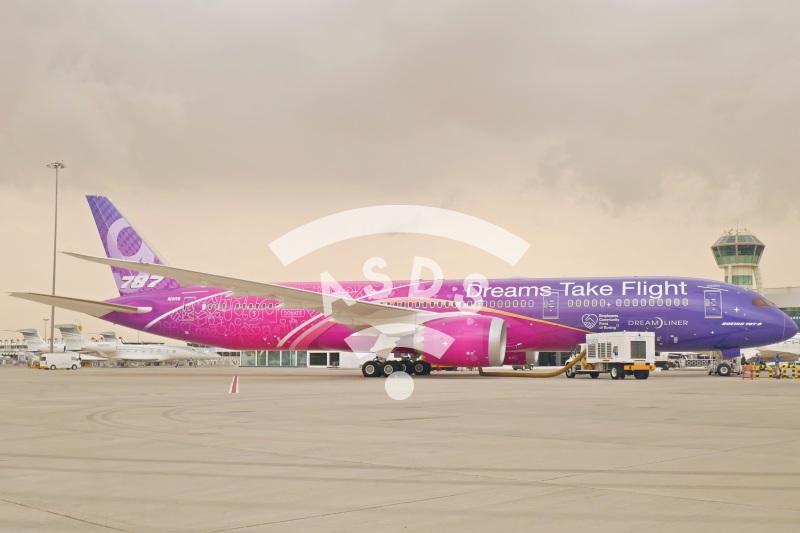 Boeing 787-9 at Dubai Airshow 2019