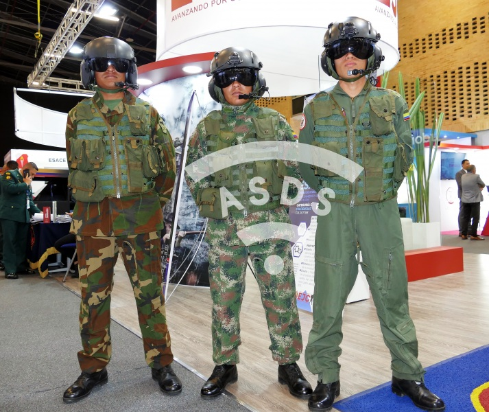 Pilots of the Ejercito colombiano at ExpoDefensa