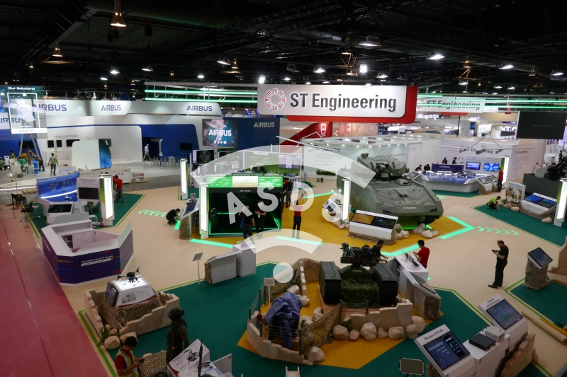 ST Engineering booth at Singapore Airshow 2020