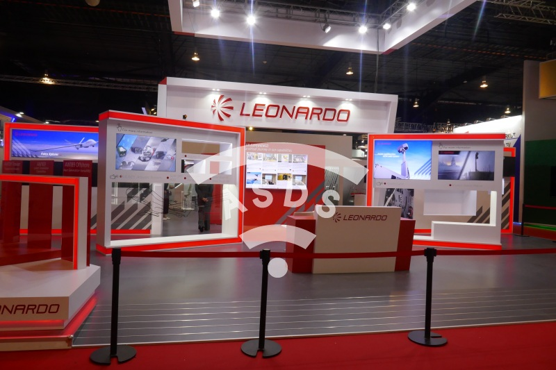 Leonardo empty booth at Singapore Airshow 2020