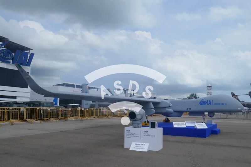 IAI Heron MK II at Singapore Airshow 2020