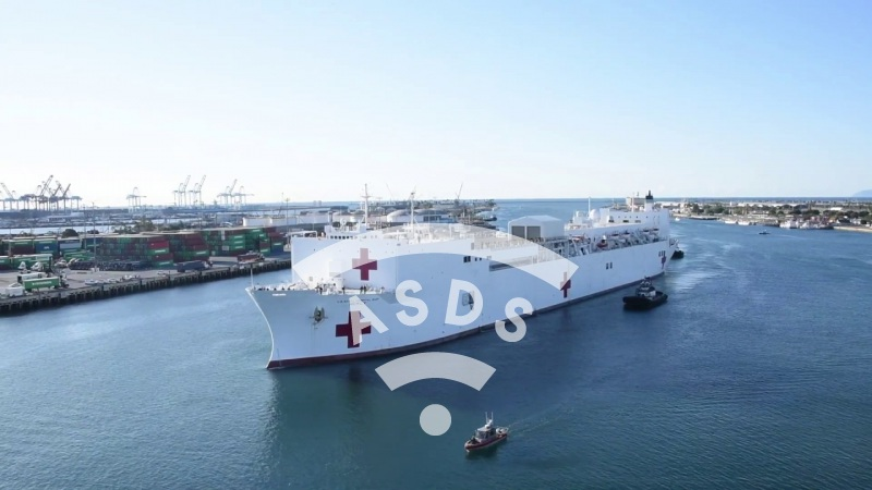 Mercy hospital ship against Covid