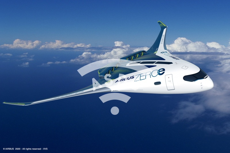 AirbusZEROe blended wing
