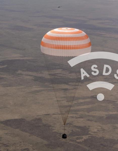 Sozuz MS-17 landing
