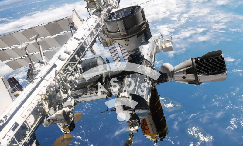 Crew Dragon docked at the ISS