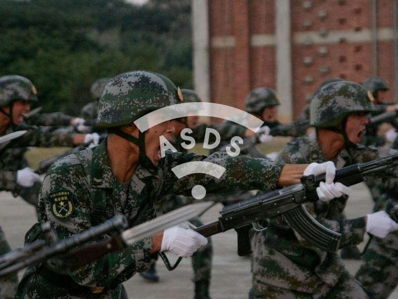 Basic training of Chinese Army