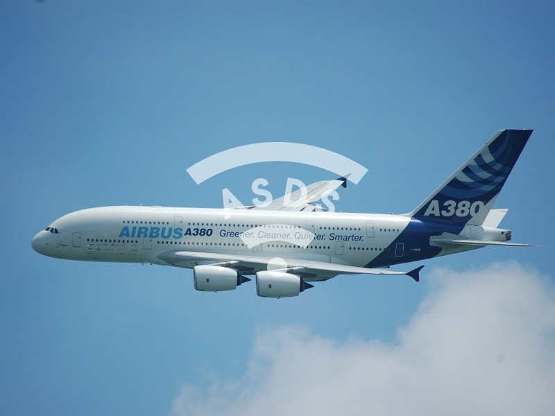 A380 at Singapore Airshow