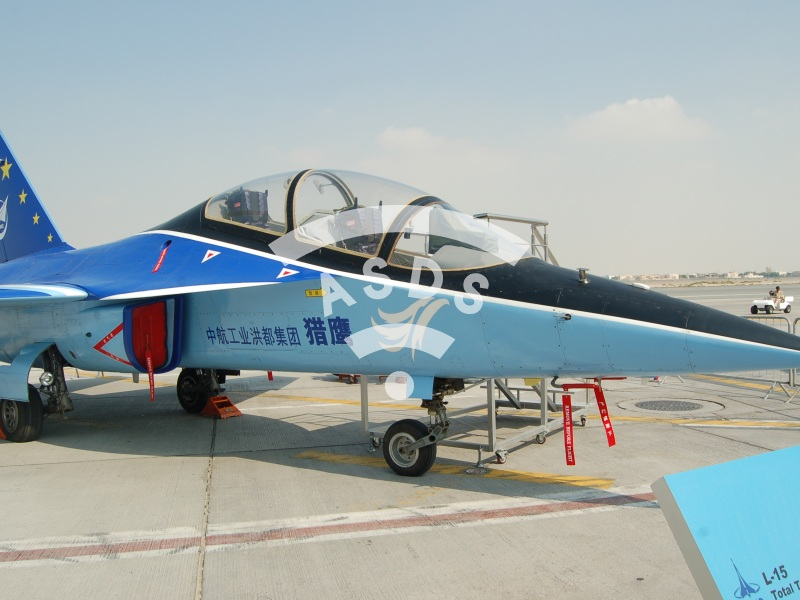 L-15 FALCON on static display at Dubai Airshow