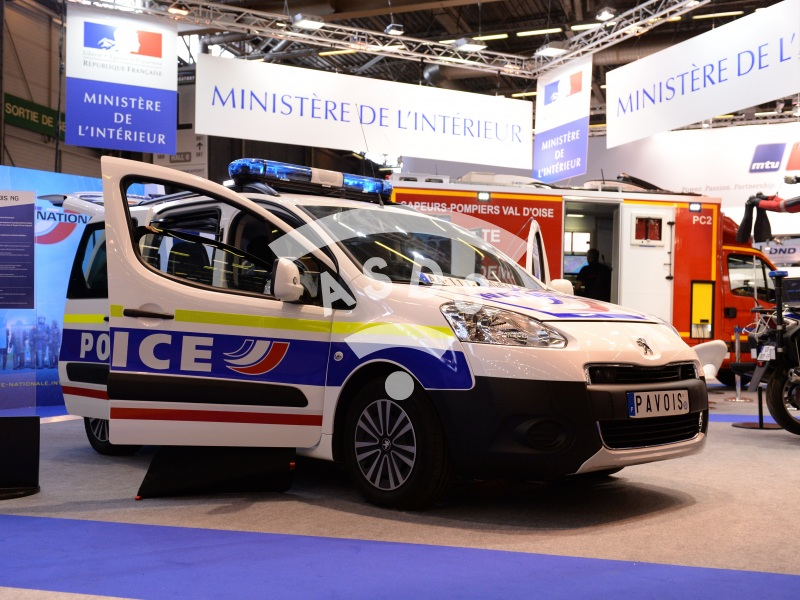 French Ministry of Interior Pavilion at Eurosatory 2014